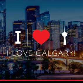I love Calgary, Alberta, Graphic